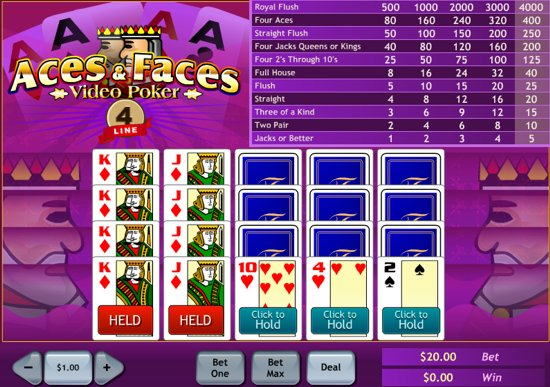 free online video poker games slots