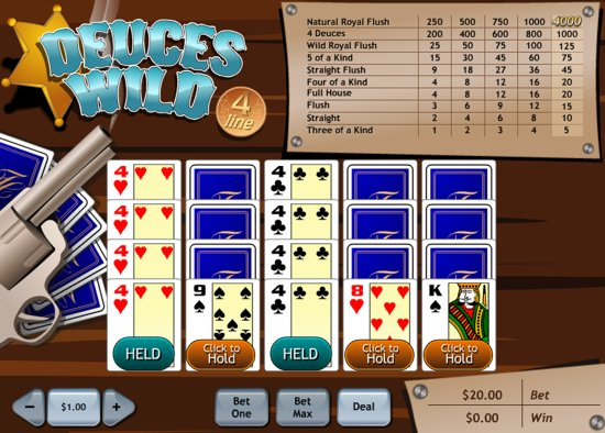 online slots free poker 4 of a kind