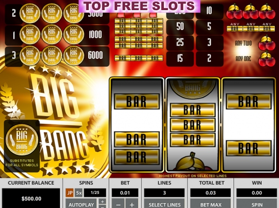 Big Bang 3 Lines Slots - Play Pragmatic Play Slot Machines for Free
