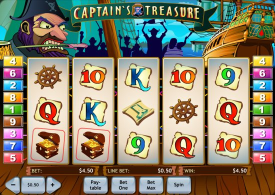 free slot games captain treasures
