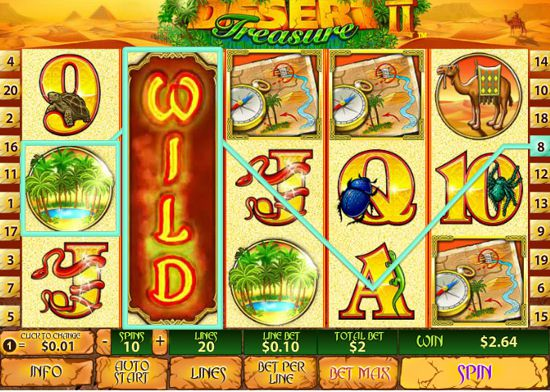 Desert Treasure II Slots - Try the Online Game for Free Now