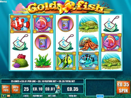 Gold fish online slots game review for Fish slot game