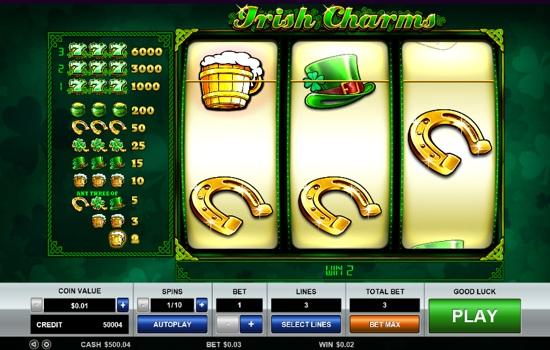 Slot machines leaf green