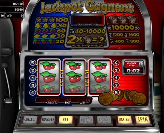 Jackpot Gagnant Slots Machine