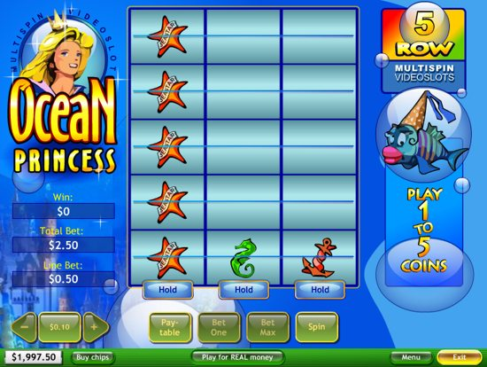 Ocean Princess Slots - Free Online Casino Game by Playtech