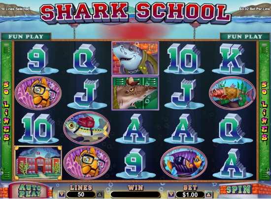 Shark School Slot Machine - Play Online or on Mobile Now