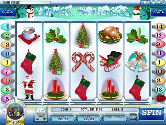 Winter Wonders Slot - Play Rival Gaming Games for Fun Online
