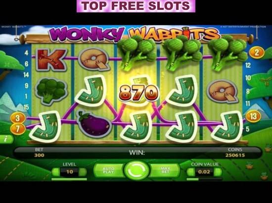 Wonky Wabbits slots - spil Wonky Wabbits slots gratis online.
