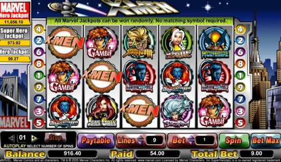 X-Men™ Slot Machine Game to Play Free in Cryptologics Online Casinos